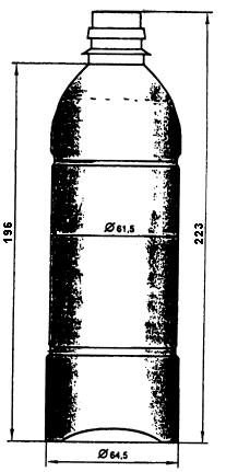 Рис. 1. ПЭТ-бутыль, V = 0.5 л.
